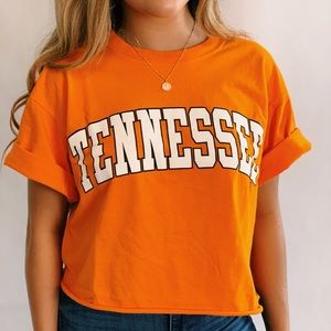 Cropped Tennessee state tee size small